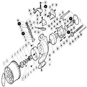 シマノ(SHIMANO) パーツ:03 スーパーエアロ テクニウム Mg 回転枠ナット No9