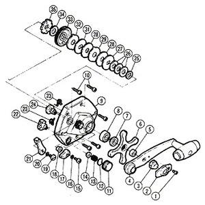 シマノ(SHIMANO) パーツ:チタノス・スーパー小船 EX3000(下使い用) ハンドル固定ナット(部品No.003)
