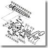 パーツ:チタノス・スーパー小船 EX3000(下使い用) ハンドル固定ナット(部品No.003)