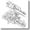 パーツ:ティアグラ 16 A-RB ボールベアリング 直径7×直径17×5 No066