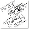パーツ:スコーピオン メタニウム Mg-L スプールドラグ座金 B No081