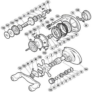 シマノ(SHIMANO) パーツ:スコーピオン メタニウム Mg-L メインギヤ軸 No185