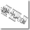 パーツ:チタノス・スピードマスター石鯛 GT3000 スプール組(部品No.050)
