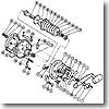 パーツ:チタノス・スピードマスター石鯛 GT3000 スタードラグ座金A(部品No.087)