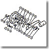 パーツ:チタノス・スピードマスター石鯛 GT4000 歯付座金(外歯)3.5(部品No.016)