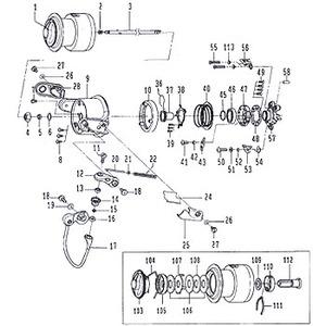 ダイワ(Daiwa) パーツ:IMPULT ISO2500LBD ホルダーSC W No019
