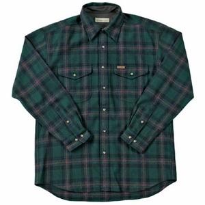 Fox Fire(フォックスファイヤー) ウォッシャブルウールクラシックチェックシャツ M's S 060(グリーン)