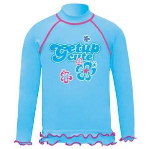 getup cute(ゲットアップ キュート) ラッシュガード/長袖 Kid's 100cm ライトブルー