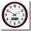 ADESSO(アデッソ) 温湿度電波掛時計 ホワイト