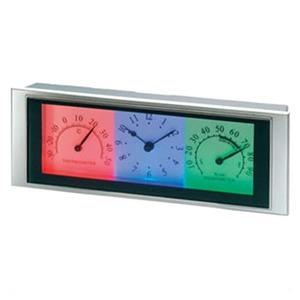 ADESSO(アデッソ) LED温湿度計クロック ホワイト