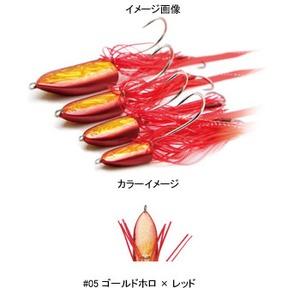 DAMIKI JAPAN(ダミキジャパン) まうすテンヤ 14g #05 ゴールドホロ×レッド