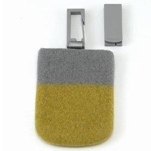 ABITAX(アビタックス) Pocket S ライトグレー&サフラン