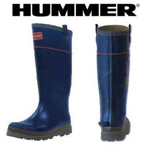 HUMMER(ハマー) ラバーブーツ メンズ S インディゴ