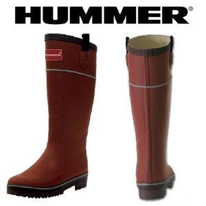 HUMMER(ハマー) ラバーブーツ レディース LL レンガ