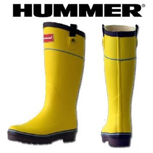 HUMMER(ハマー) ラバーブーツ レディース M イエロー