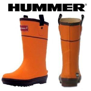 HUMMER(ハマー) ラバーブーツ ジュニア 22.0cm オレンジ