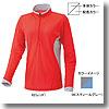 ドライアクセルEX・長袖ジップネックシャツ Women's S 06(スティールグレー)