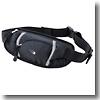 スポーツウエストバッグ BKSI(ブラック×シルバー)