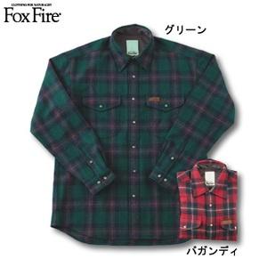Fox Fire(フォックスファイヤー) ウォッシャブルウールクラシックチェックシャツ グリーン S