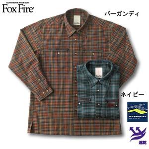 Fox Fire(フォックスファイヤー) テクノファインプレイドチェックシャツ バーガンディ S