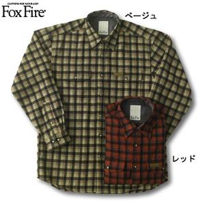 Fox Fire(フォックスファイヤー) ウォッシャブルウールラスティックチェックシャツ ベージュ L