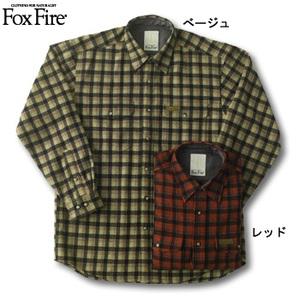 Fox Fire(フォックスファイヤー) ウォッシャブルウールラスティックチェックシャツ レッド M
