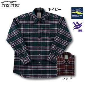 Fox Fire(フォックスファイヤー) テクノファインツイルチェックシャツ ネイビー L
