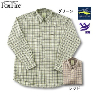 Fox Fire(フォックスファイヤー) テクノファインブライトチェックBDシャツ グリーン S