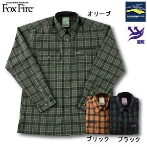 Fox Fire(フォックスファイヤー) テクノファインブロックチェックシャツ ブラック L