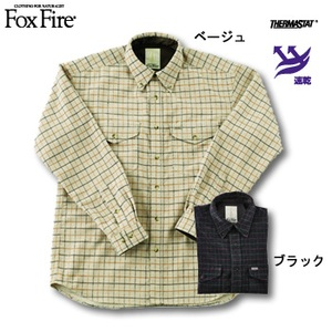 Fox Fire(フォックスファイヤー) サーマスタットタッターソールBDシャツ ブラック S