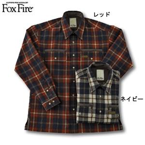 Fox Fire(フォックスファイヤー) ウォッシャブルウールプレイドシャツジャケット ネイビー XL