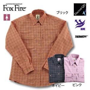 Fox Fire(フォックスファイヤー) サーマスタットグラデーションチェックシャツ L ネイビー