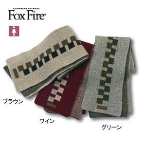 Fox Fire(フォックスファイヤー) ブロックパターンマフラー フリー ワイン