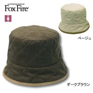 Fox Fire(フォックスファイヤー) キルティングハット M ダークブラウン