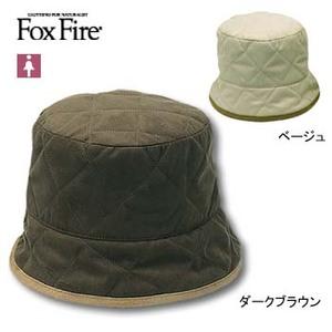 Fox Fire(フォックスファイヤー) キルティングハット L ダークブラウン