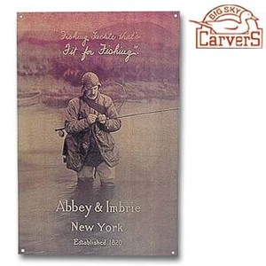 A&F COUNTRY(エイアンドエフカントリー) クラシック メタルサイン ABBEY&IMBRIE NEW YORK