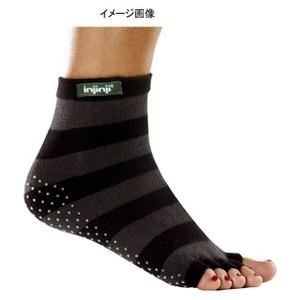 injinji(インジンジ) ヨガ(指無し) S ブラック×グレー