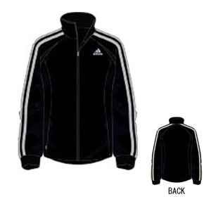 adidas(アディダス) R6730 adi-COOL ウォームアップジャケット M ブラック×ライトグレー