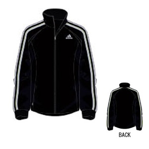 adidas(アディダス) R6730 adi-COOL ウォームアップジャケット L ブラック×ライトグレー
