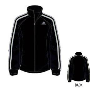 adidas(アディダス) R6730 adi-COOL ウォームアップジャケット O ブラック×ライトグレー