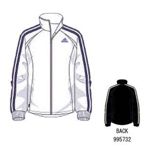 adidas(アディダス) R6730 adi-COOL ウォームアップジャケット O ホワイト×パシフィックブルーS07