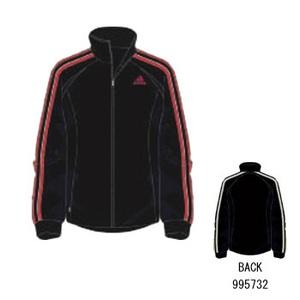 adidas(アディダス) R6730 adi-COOL ウォームアップジャケット L ブラック×ヴィクトリーレッドS07
