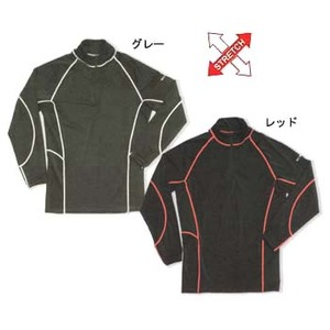FIELDX-TREAMER FX-601 ジップアップシャツ L レッド