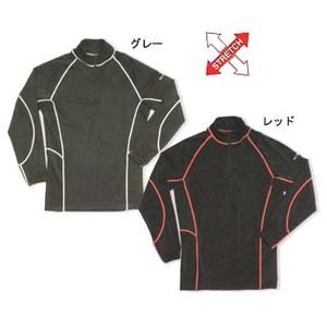 FIELDX-TREAMER FX-601 ジップアップシャツ LLL レッド