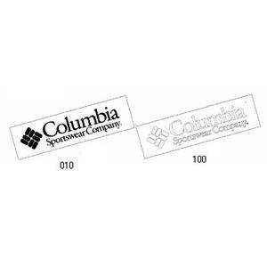 Columbia(コロンビア) CSステッカー1 68×250mm 010(Black)