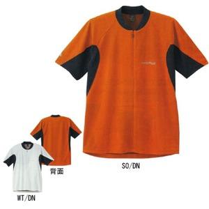 モンベル(montbell) ジオライン3Dメッシュ サイクルジップシャツ L ホワイト×ダークネイビー(WT/DN)