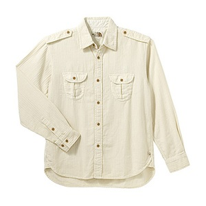 A5 AT30750 Herringbone Shirt S IV(アイボリー)