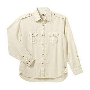 A5 AT30750 Herringbone Shirt L IV(アイボリー)