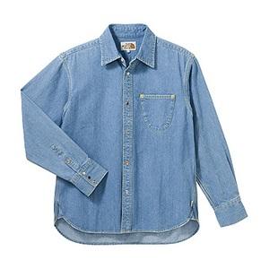 A5 AT30752 Denim Shirt L ST(ストーン)