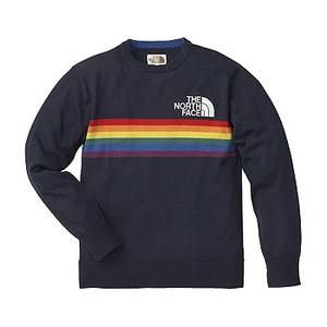 A5 Rainbow Knit Crew S N(ネイビー)